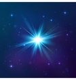 Blue shining star vector image