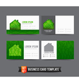 Business Card template set 021 Green house ecology vector image
