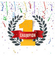 Champion winner number one background vector image