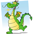 Happy Smiling Dragon Cartoon Character vector image