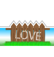 Love Fence vector image