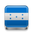 Metal icon of Honduras vector image