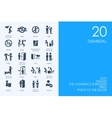 Set of BLUE HAMSTER Library dismissal icons vector image