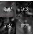 Set of dark grey blurred backgrounds vector image