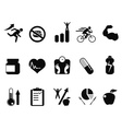 sport performance icons set vector image