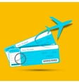Flight Ticket with Airplane vector image
