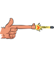 shooting hand vector image vector image