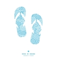 abstract swirls flip flops silhouettes pattern vector image vector image