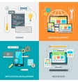 Website Development Picture Set vector image