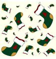 Christmas sock pattern vector image