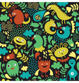 Seamless pattern with cute monster vector image vector image