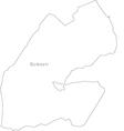 Black White Djibouti Outline Map vector image vector image