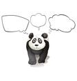 A thinking panda vector image