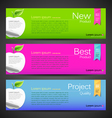 Banner design apple vector image