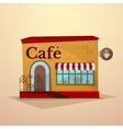 Facade cafe vector image