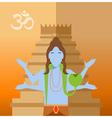 Hindu flat icon vector image