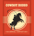 old west cowboys rodeo retro poster vector image