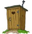 rural toilet vector image
