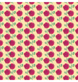 seamless pattern with the leaves and flowers vector image