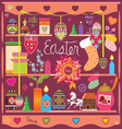selection of design elements of an easter subject vector image