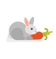 flat style of rabbit vector image