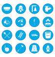 firefighter icon blue vector image