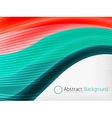 Rainbow color wave abstraction design template vector image