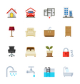 House and Real Estate Icons vector image vector image