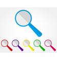magnifier icon set vector image