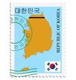 mail to-from South Korea vector image vector image