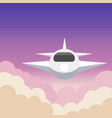 airplane aerial view art with beautiful background vector image