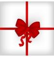 Elegant red satin ribbon on white background vector image