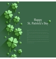 Happy St Patricks Day - greeting card in flat vector image
