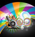 music theme design vector image