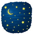 night sky with stars and moon vector image