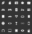 Personal data icons on gray background vector image