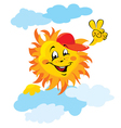 Smiling Sun Cartoon vector image