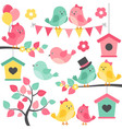 Summer Birds vector image