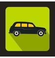 London black cab icon flat style vector image