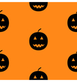 Black silhouette funny smiling pumpkins Cute vector image