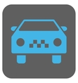 Taxi Car Rounded Square Icon vector image