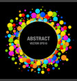 colorful bright circle confetti round papers frame vector image