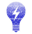 electric bulb grunge textured icon vector image