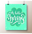 poster with a handwritten phrase-hello spring 6 vector image
