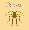 flat on background octopus vector image