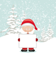 Santa Holding an Empty Sign vector image vector image