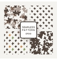 Set of seamless patterns with grungy cross vector image vector image