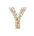 Floral font with with spring pink flowers Romantic vector image vector image