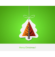 Christmas with abstract pine tree vector image