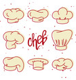 collection of chef hats vector image